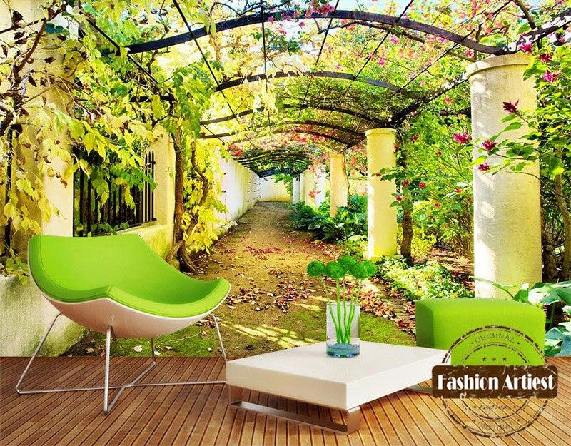 Aliexpress.com : Benutzerdefinierte 3d floral baum galerie tapete ...