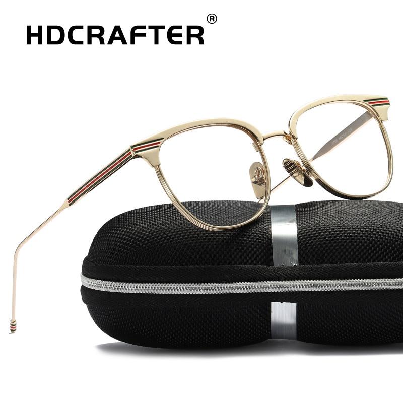HDCRAFTER 2019 Vintage Retro Round Eyeglasses Brand Designer For Women Glasses Fashion Men Optical eye glasses Frame Eyewear