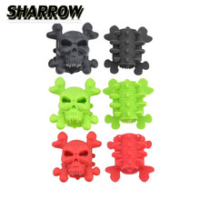 2pcs Skull Archery Compound Bow Stabilizer Silencer Shock Absorber Limb Dampering Reduce Noice For Hunting Shooting Accessories