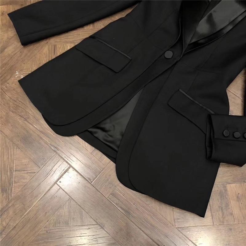 Haute Neuf Fashion À Longues down Élégante De Pour Femmes Lady Manteau Turn Qualité Collar Noir Mode Veste 2018 Manches qzPXwAA0a