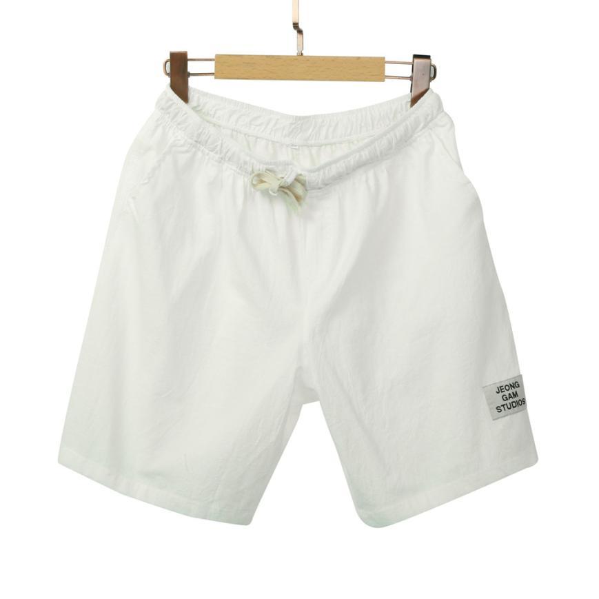 Summer Fashion Mens Linen Shorts Regular Jogger Male Trousers Short Casual  Bomber Hot Sale Shorts  pantalon homme #AA