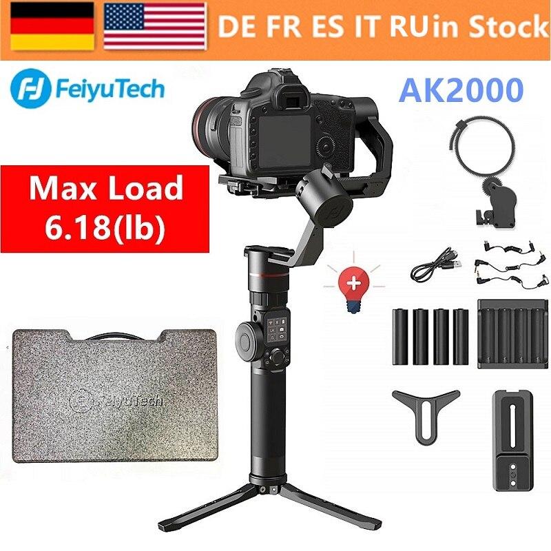 FeiyuTech Feiyu AK2000 3-Axe stabilisateur pour caméra Cardan pour Sony Canon 5D 6D Marque Panasonic GH5 Nikon D850 2.8 kg payloa