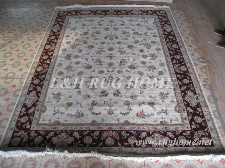 Free shipping 8'X10' 160Line Hand-knotted  Wool and Silk Oriental - Home Textile