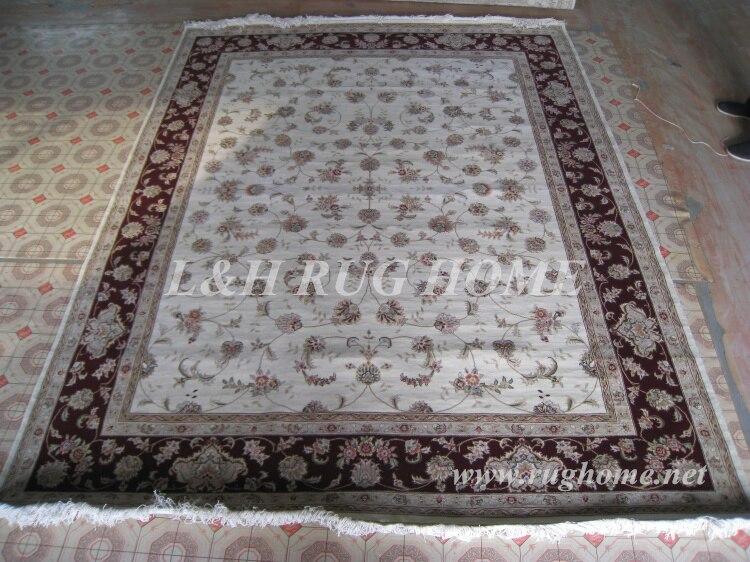 Besplatna dostava 8'X10 '160Line vunene i svilene ručno ojačane - Tekstil za kućanstvo