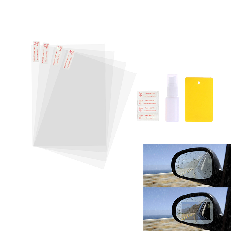 4 Pcs Car Rearview Mirror Protective Film Anti-Glare Anti-Scratch And Fog Water HD Rainproof Rear View Mirror Clear Film Cover