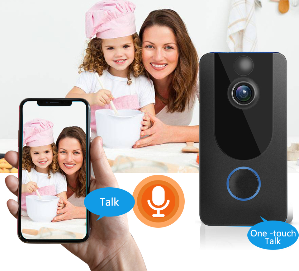 Image 5 - GEEKAM 1080P WiFi Video Doorbell V7 Smart IP Video Intercom Free Cloud Recording For Apartment IR Alarm Wireless Security Camera-in Doorbell from Security & Protection