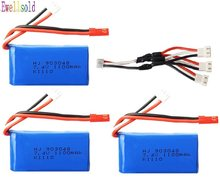 7.4V 1100mah battery A949-27 Part/USB charger for Original Wltoys A949 A959 A979 K929 1/18 R/c Car Battery 7.4 v 1100mah