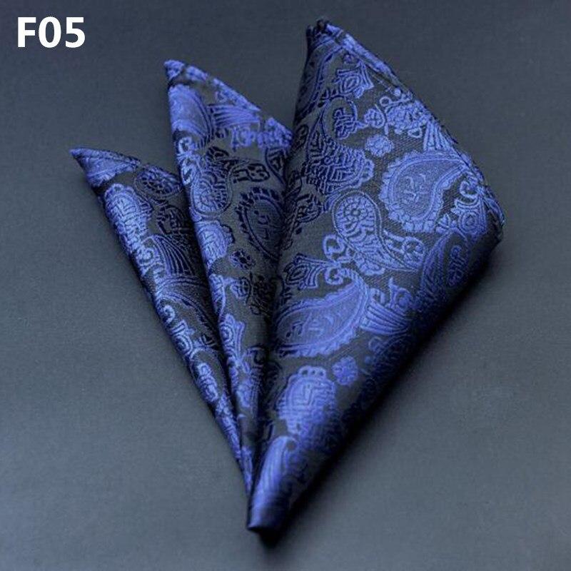 Hot 25*25cm Men's Suits Handkerchiefs Polyester Floral Printed Pocket Square Polka Dots Hankies Men Business Casual Square Towel