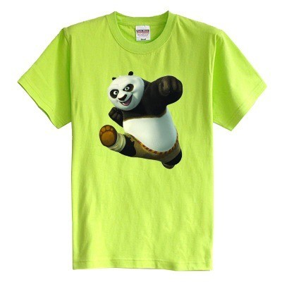 Niños camiseta manga corta de verano Kung Fu Panda ropa del bebé 100% algodón niño niña kid t shirt