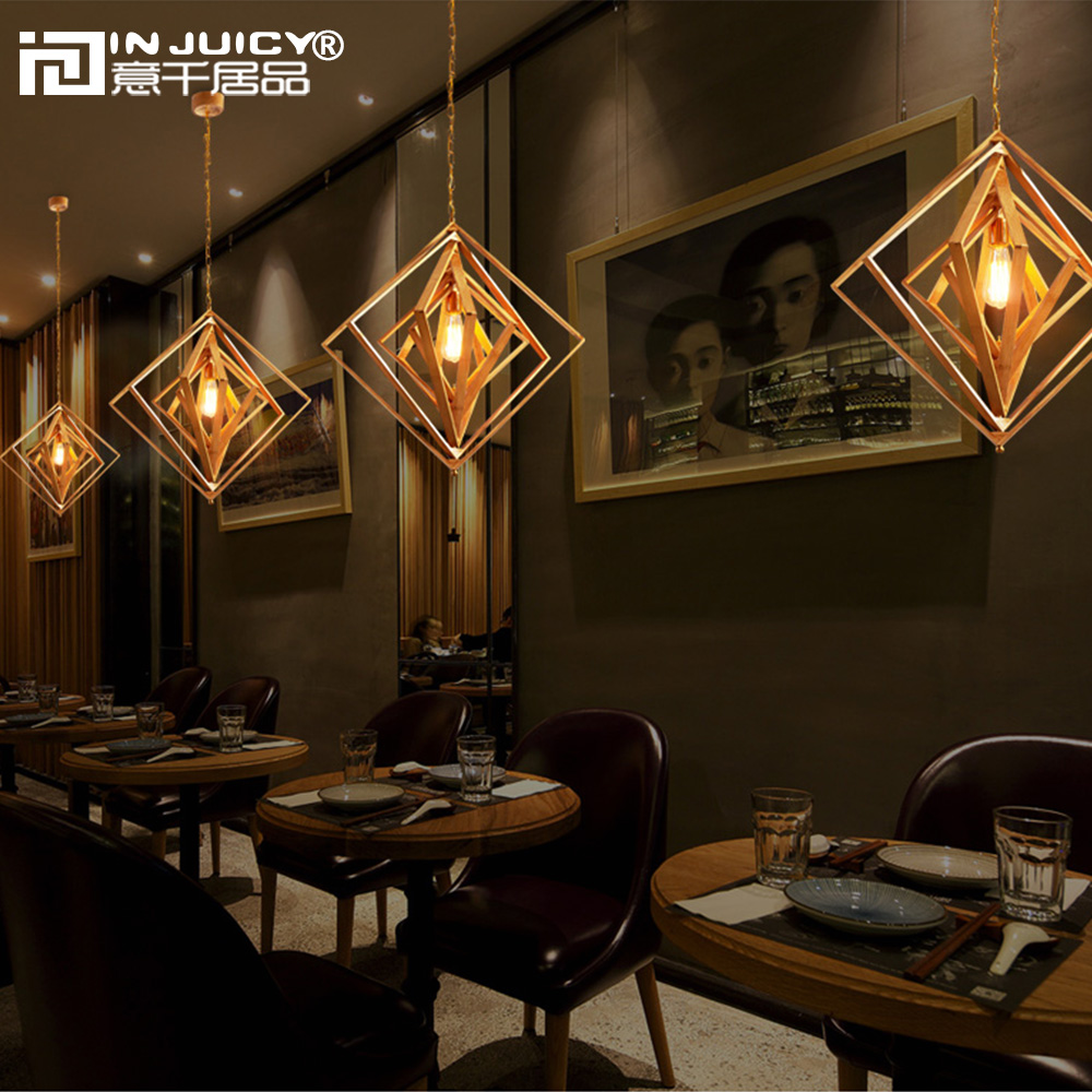 Japanese vintage wood bamboo lantern e27 ediosn pendant lights lamps japanese vintage wood bamboo lantern e27 ediosn pendant lights lamps shades retro square tea house droplights corridor cafe bar in pendant lights from mozeypictures Gallery