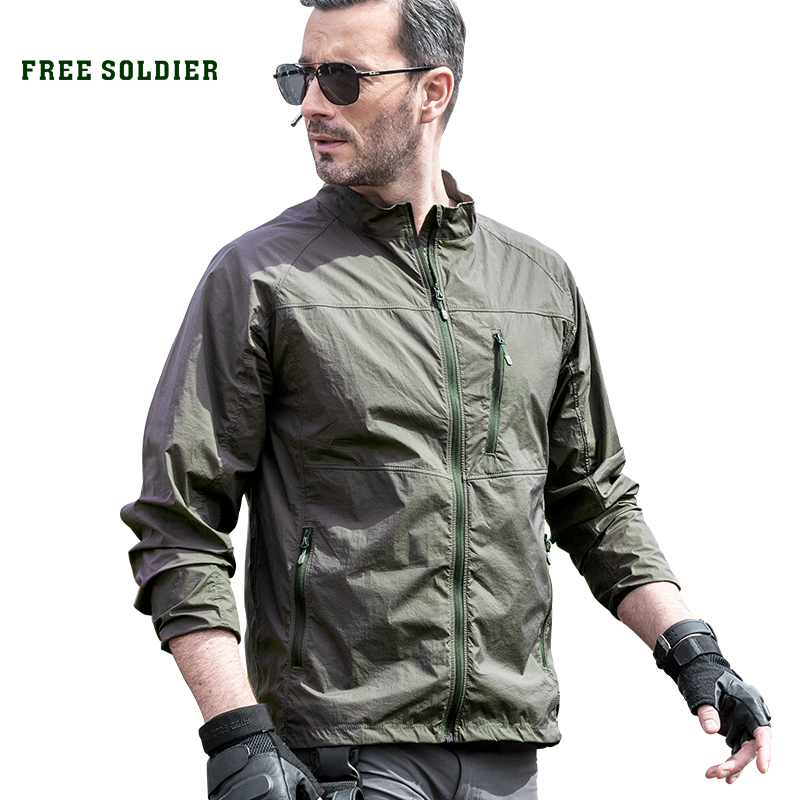 FREE SOLDIER Outdoor camping hiking jacket without hood high protection from harmful UV rays sun protective