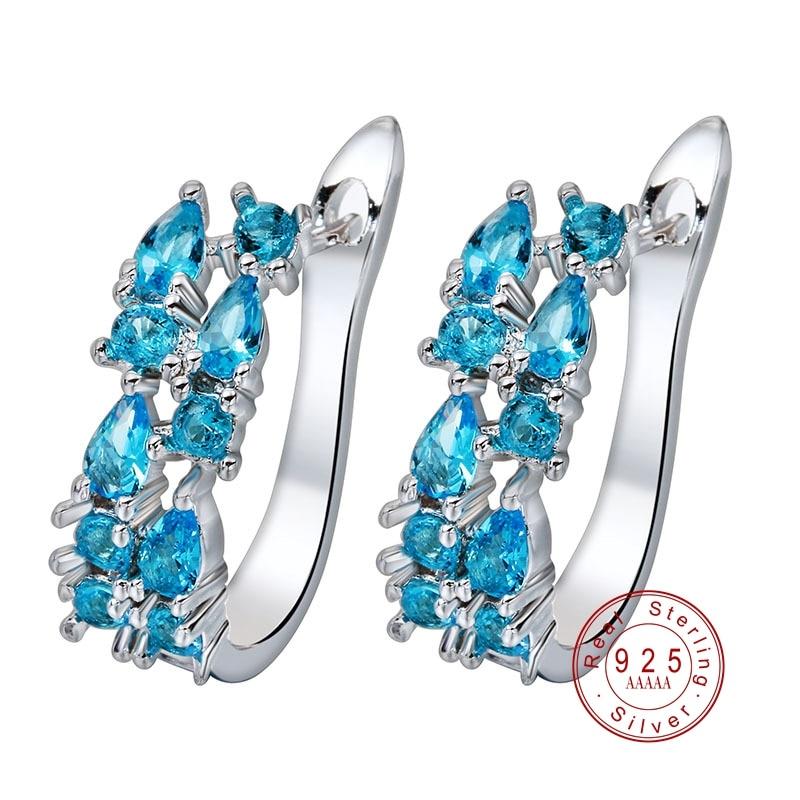 Luxury 925 Sterling Sliver Stud Earrings For Women  1