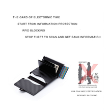 Metal Wallet Credit Card Holder With RFID Blocking