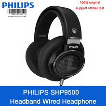 Original Philips SHP9500 Wired headset with High-quality Sound Mic noise reduction Earphones for Xiaomi Support official test(China)
