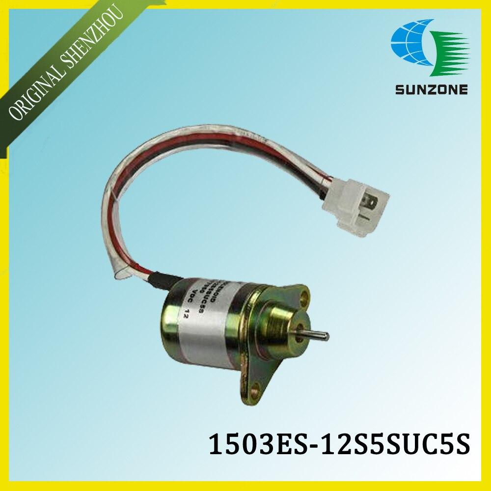 12V Diesel Engine Fuel Stop Solenoid 1503ES-12S5SUC5S S/N SA-4562-T Appliance 119653-77950 конвектор aeg wkl 1503 s