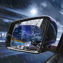 2PCS/Set Anti Fog Car Mirror Window Clear Film Dazzle Rearview Protective Waterproof Rainproof