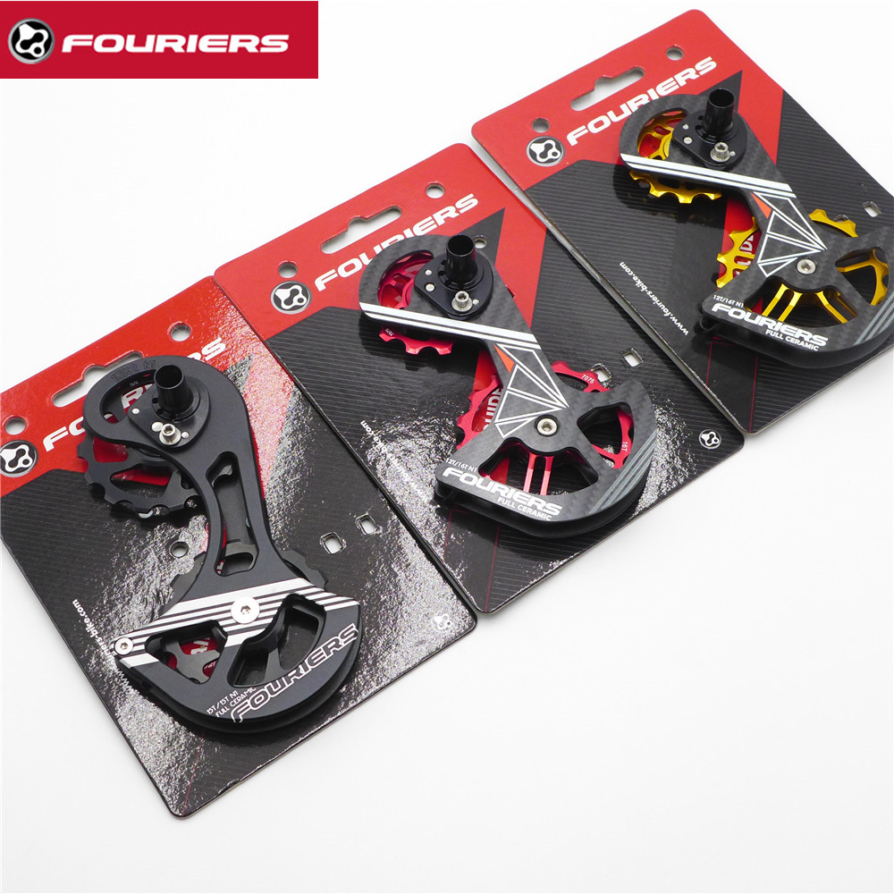 FOURIERS OSPW System For Rear Derailleur SHIMANO RD 6800 6870 9000 9070 Oversized Pulley Wheel Ceramic