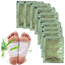 Купить с кэшбэком 10PcsChinese Medicine Paste Detox Foot Pads Patch plaster removal of harmful toxins from the body health Z06810