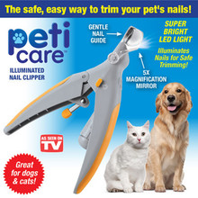 Pet Dog Nail Clippers Grinders with LED Light and 5X Magnifier Care Dogs Grooming Claw Trimmer Cutter Scissors