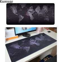 World Map Large Mouse Pad Locking Edge Natural Rubber Gaming Mousepad for Csgo Dota 2 LOL Overwatch Laptop PC Gamer Mat
