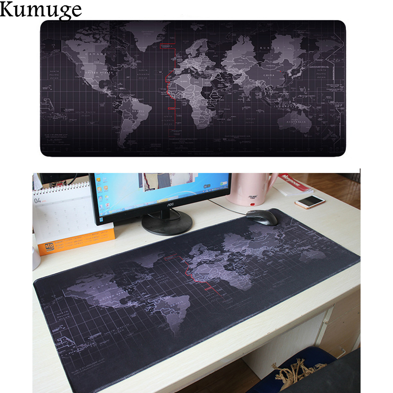 World Map Large Mouse Pad Locking Edge Natural Rubber Gaming Mousepad for Csgo Dota 2 LOL Overwatch for Laptop PC Gamer Mat