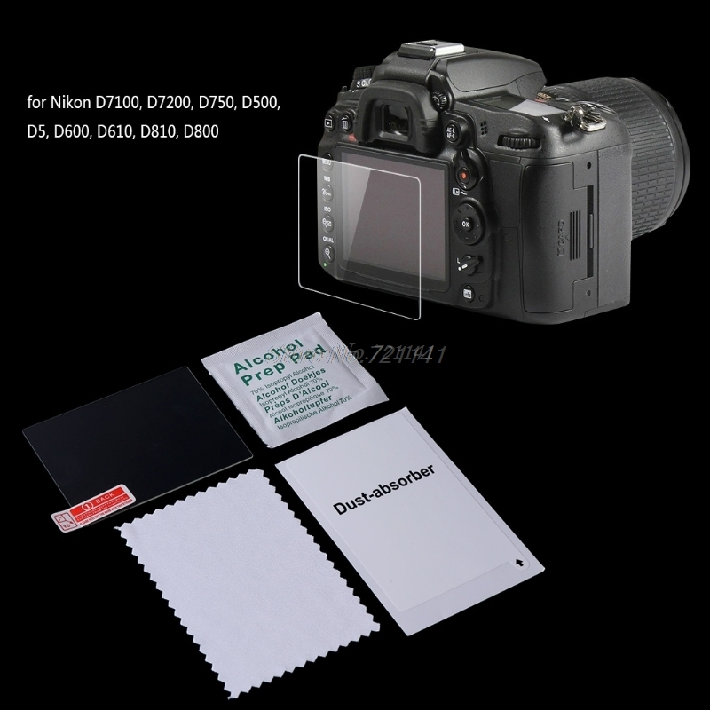 Screen Protector Tempered Glass Camera LCD Guard Cover Film For D7100 D750 Electronics Stocks