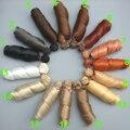 free shipping 15 cm curly doll wigs brown khaki black high temperature heat resistant doll hair 1/3 1/4 1/6 BJD diy doll wigs