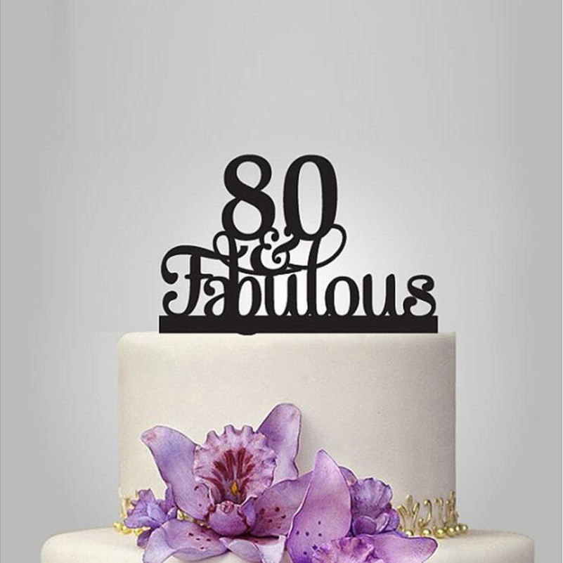 Astounding 80 Fabulouscake Topper 80Th Birthday Party Decorations 80Th Funny Birthday Cards Online Aboleapandamsfinfo