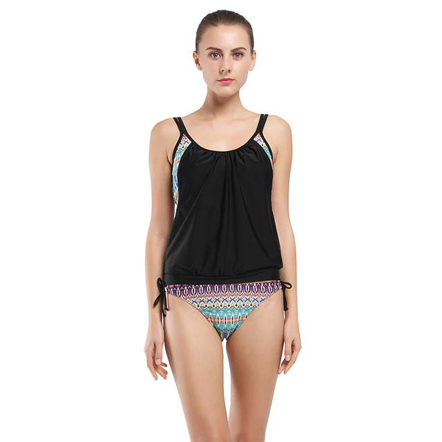 a93925f7c05c18 M & M Vintage Sexy Strój Kąpielowy Tankini Kobiet 2017 Lato Strój Kąpielowy  W Paski Kostiumy