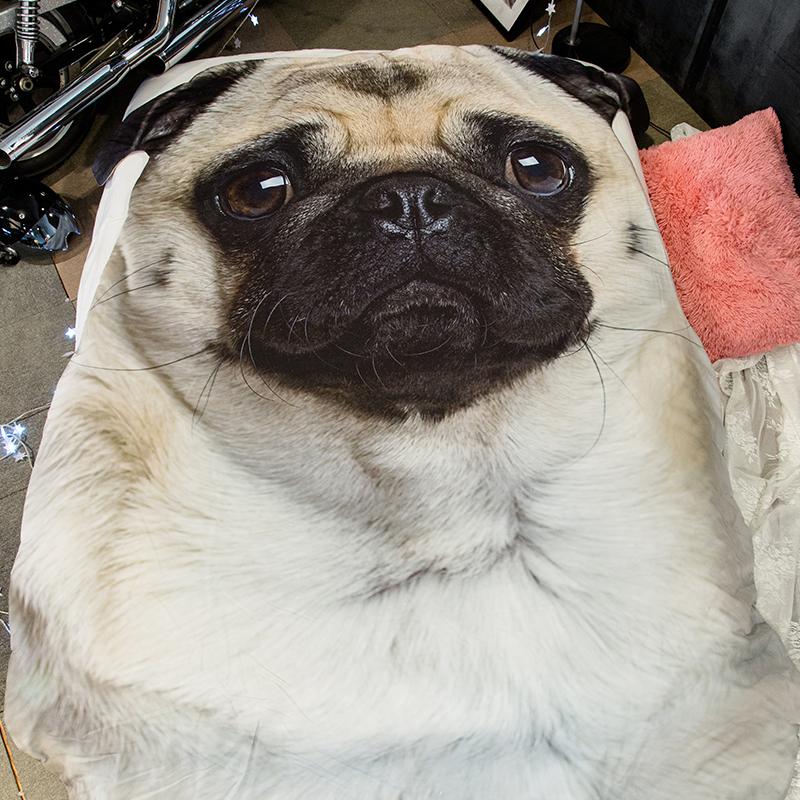 3D Bulldog Blanket Big Size Dog Pattern Sofa Bed Throw Blanket Kid Adult Warm Blanket Plaid Quilt Wholesale Free Shipping