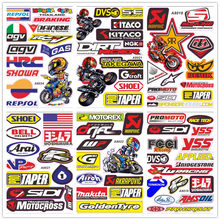 Motocross Racing Helmet Motorcycle Decal Funny Truck Graphic Bike Vinyl Sticker For Honda Yamaha A4 Size Whole Set(China)