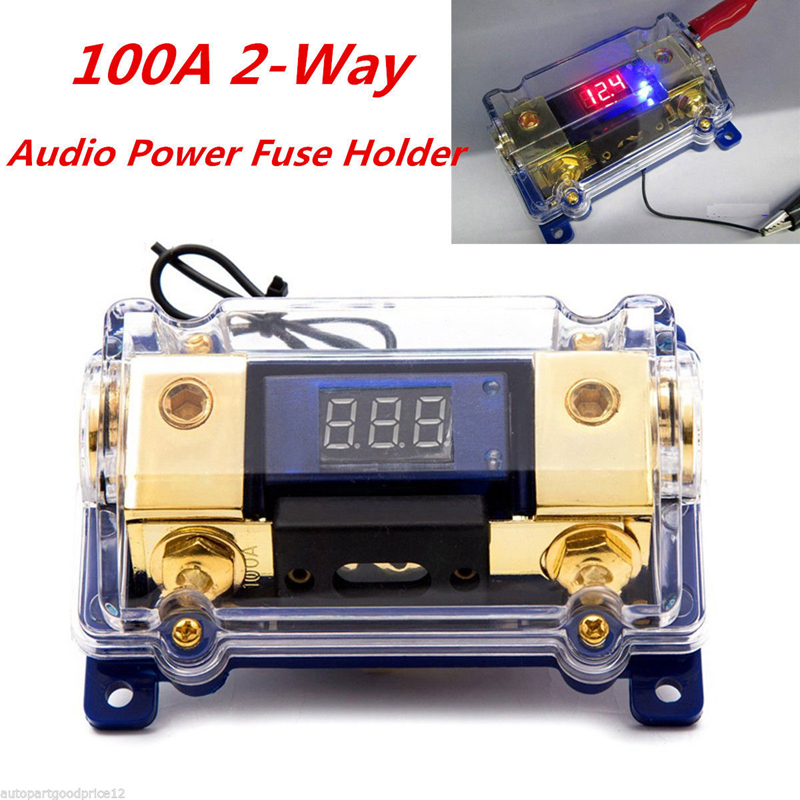 Power-Fuse-Holder Fusibles-Box Car-Audio-Fuses Led-Display Car-Stereo 1 with Voltage