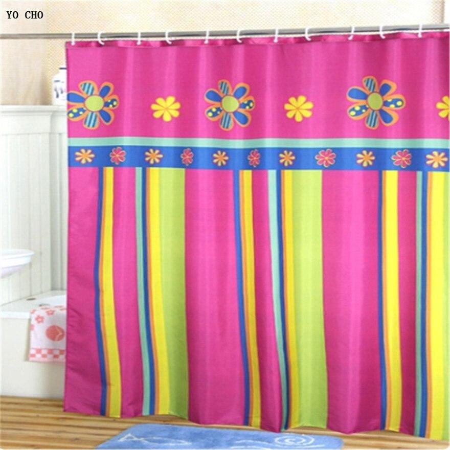 180 cm moderno poliestere impermeabile bagno colorato doccia tessuto della tenda tende da doccia