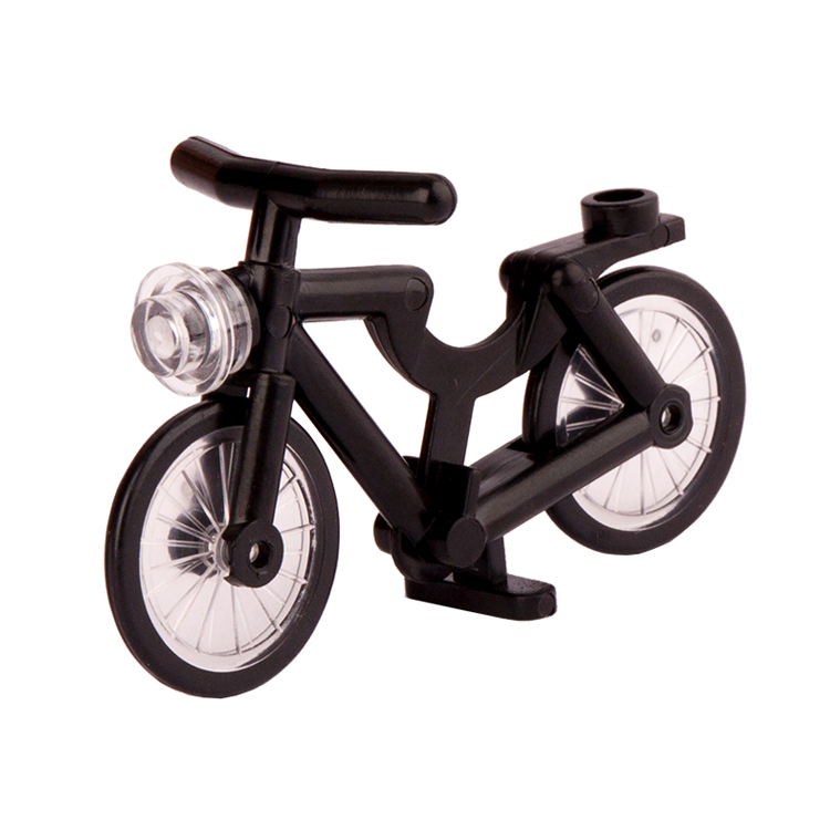 Single Sale one piece black Bike Medium AZURE BICYCLE action building blocks toys