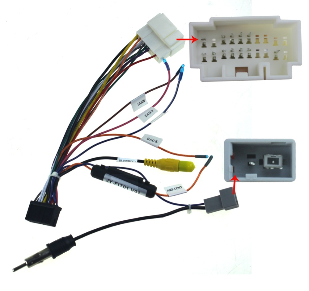 Joying wiring ISO harness for Honda Fit car radio power adaptor power cable radio plug aliexpress com buy joying wiring iso harness for honda fit car honda wire harness plugs at gsmx.co