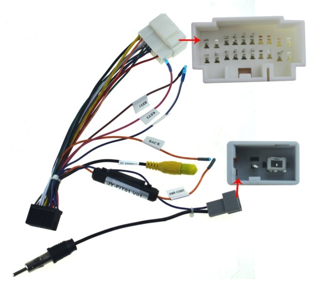 Joying wiring ISO harness for Honda Fit car radio power adaptor power cable radio plugin Cables