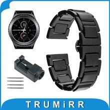20mm correa de reloj de cerámica para samsung gear s2 classic r732 y r735 moto 360 2 Gen 42mm Hombres 2015 Venda de Reloj Enlace Correa Pulsera Inteligente