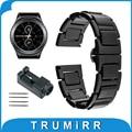 20mm pulseira de cerâmica para samsung gear s2 classic r732 & r735 moto 360 2 gen 42mm homens 2015 smart watch band link pulseira pulseira