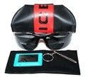 LUXO MODELO SOLDADO POLICIAL TAC de Motorista reforçada polarizada golfe polaroid polarizada UV 400 óculos de sol dos homens de IMAGEM REAL