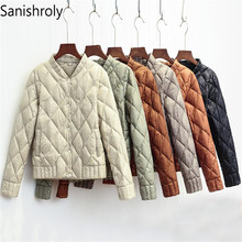 Sanishroly 2018 Women V-Neck White Duck Down Jacket Autumn W
