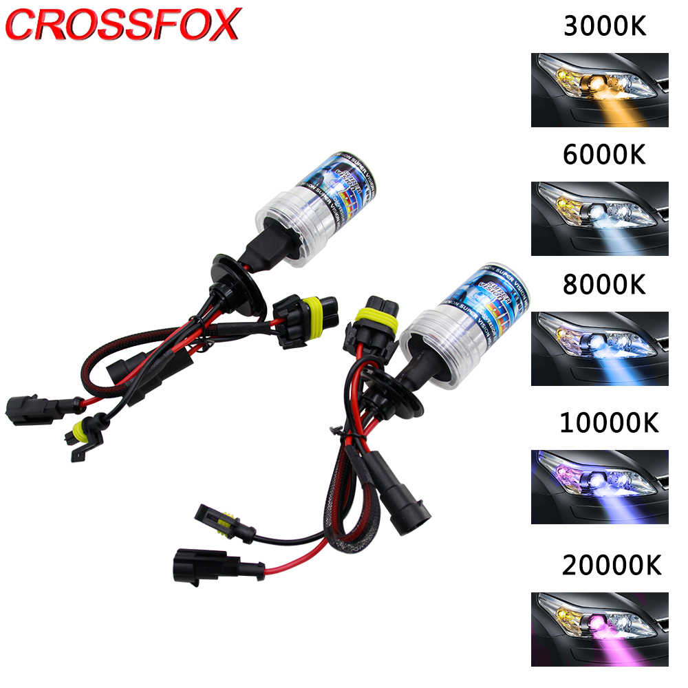 CROSSFOX 2pcs 55W Xenon H1 H7 H11 H3 H13 9005 9006 9004 9007 880 Headlight Bulb Car Light Brights HID Xenon Lamp 3000k - 12000K