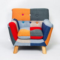 Modern Children Kids Sofa Couch Armrest Chair Upholstered Living Room Furniture Single Sofa Armchair Girl and Boy Birthday Gift