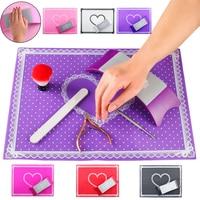Silicone Nail Art Mat Hand Arm Rest Nail Pillow Manicure Salon Nail Polish Holder Table Mat