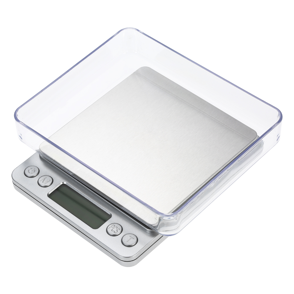 Digital Kitchen Scale bascula Jewelry Food Scale with Two Trays Electronic Balance Kitchen Baking Pocket Scale Весы