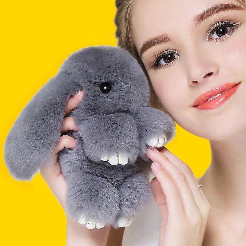 2018 Spelen Dode Konijnenbont Konijn Bunny Sleutelhanger Mode bont - Mode-sieraden - Foto 2