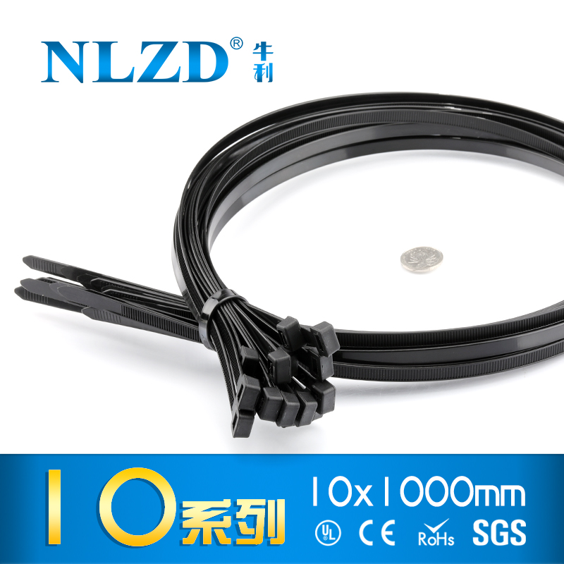 10 Inch Nylon UV Resistant Cable Wire Zip Tie 40 lbs Black 500 Pack Lot Pcs Qty