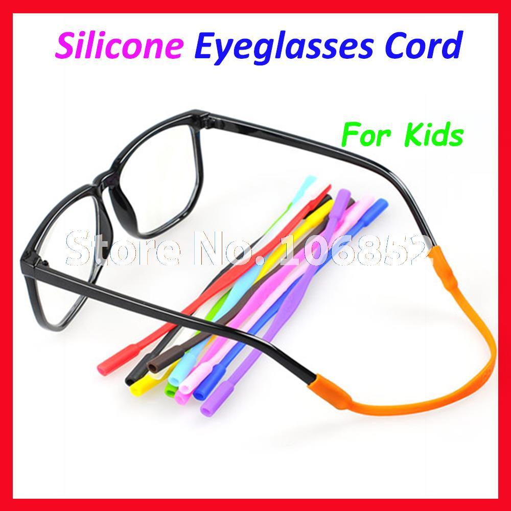 OT005 100pcs Kids Children Silicone Eyeglasses Cord Chain String Sunglasses Anti Slip Glasses holder 12 different