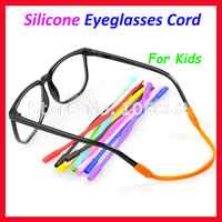 OT005 100ピース子供子供シリコーン眼鏡コードチェーンストリングサングラスアンチスリップメガネホルダー12異なる色