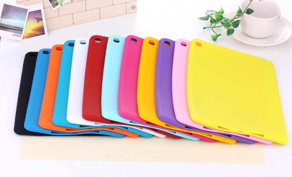 Candy Color Soft Jelly Silicone Rubber TPU Case For iPad Air Air2 Gel Case Skin Shell Protective Back Cover For iPad 5 6