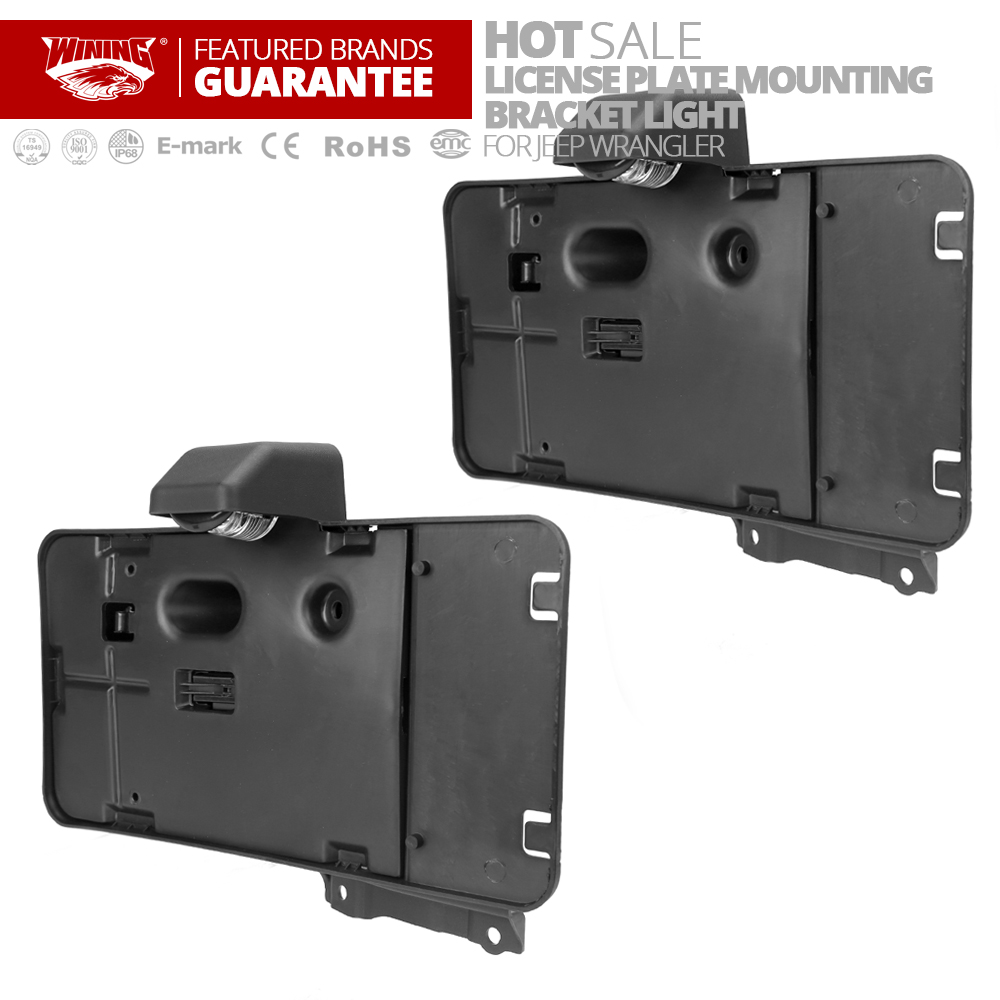 Freeshipping 2PC America Canada  Rear License Plate Mounting Holder Bracket  Light Lamp For Jeep Wrangler JK Unlimited 2007~2015 canada 24 type potentiometer 2 5k